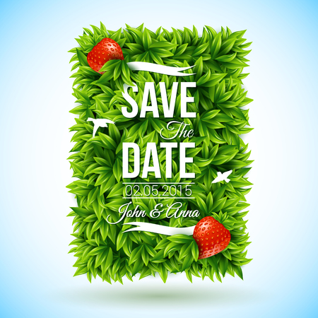 Save the date for personal holiday. Wedding invitation. Vector image.  Vector