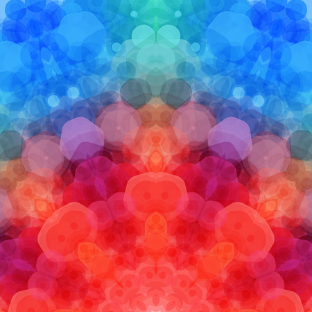 psychedelic: Retro pattern made of hexagonal shapes. Mosaic background.  Illustration