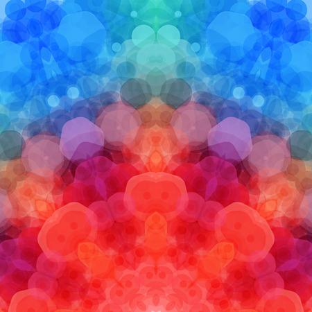 Retro pattern made of hexagonal shapes. Mosaic background.  Illustration