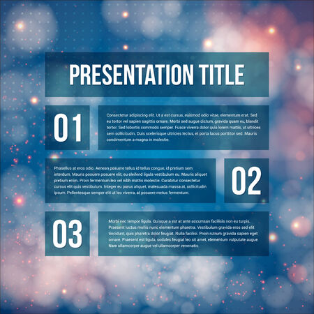 Template for Your business presentation. Blurred background.  Vector