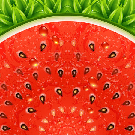 Optical watermelon background pattern. Vector illustration.