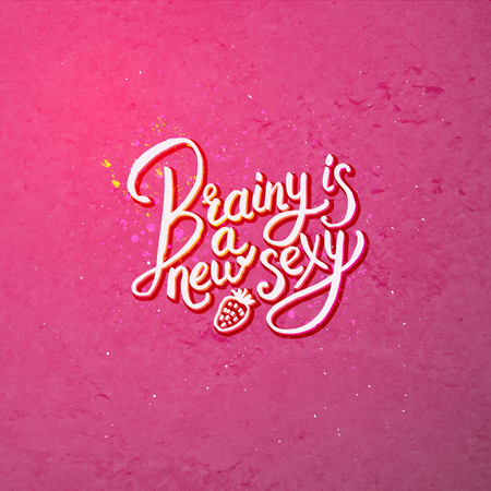 Artistic Text Design for Brainy is a New Sexy Concept on Abstract Dark Pink Background.