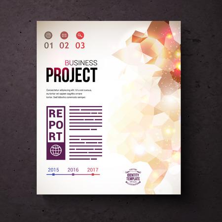 emphasising: Nizza di identit� Web Template for Business concetto di progetto, sottolineando Infografica su uno sfondo astratto marrone scuro.
