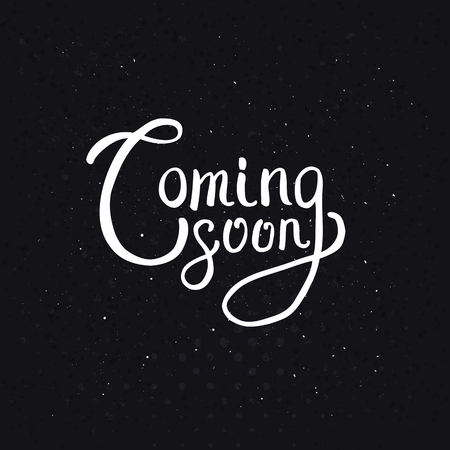 Coming Soon Message in Simple White Text Style on an Abstract Black Background with Dots.