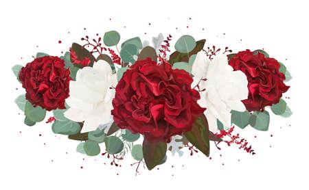Vector floral bouquet design.