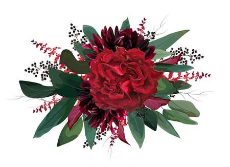 Vector floral colorful bouquet design