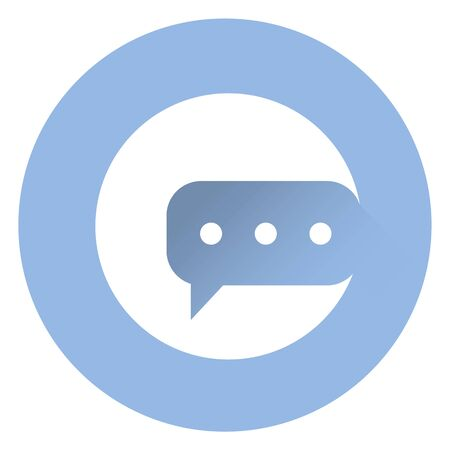 instant messaging: Stylish messange icon .