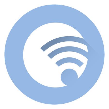 Stylish wireless icon .