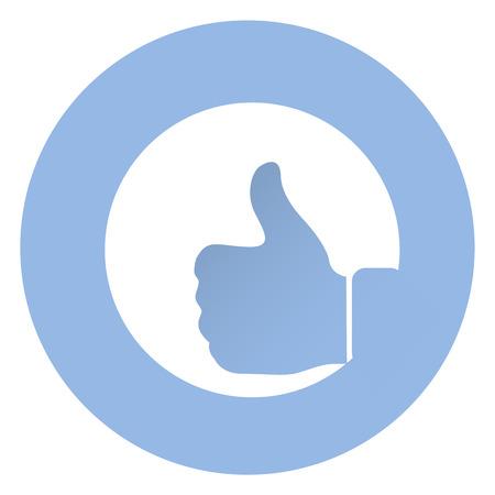 dislike it: Stylish like icon . EPS 10 Vector icon Illustration