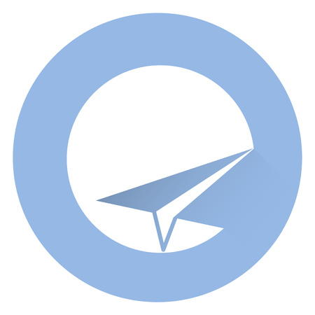 Stylish sent icon. EPS 10 Vector icon