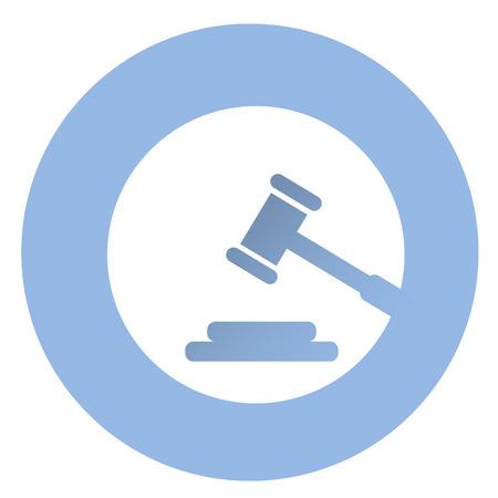 Stylish court icon . EPS 10 vector icon Ilustracja