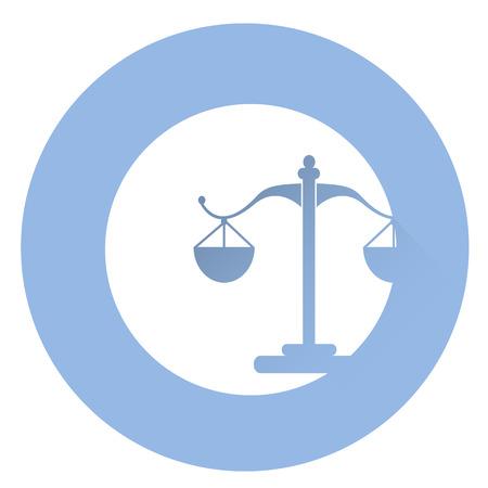 pledge: Stylish court icon . Illustration