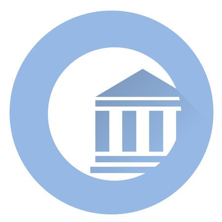 Stilvolle Gerichtssaal-Symbol. Standard-Bild - 61599414