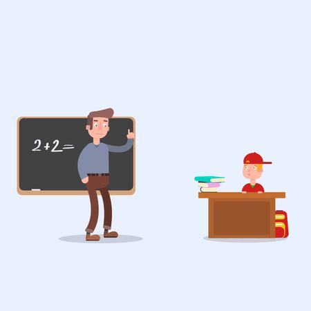 teaches: The teacher teaches the student