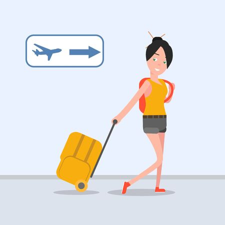 brand activity: The girl goes on vacation . Flies rest