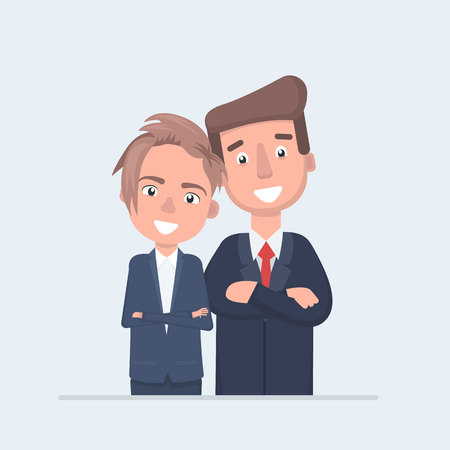 business people character vector design Illustration