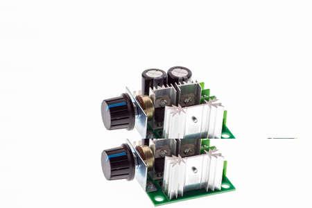 PWM Motor Speed Controller on white background 版權商用圖片