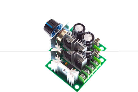pwm PWM Motor Speed Controller on white background