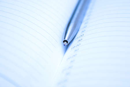 organizer and pen. business background photo