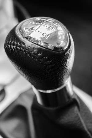 close-up of a manual car gear shift. 5 speed manual. Stock Photo - 15166646