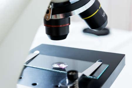 Laboratory microscope lens