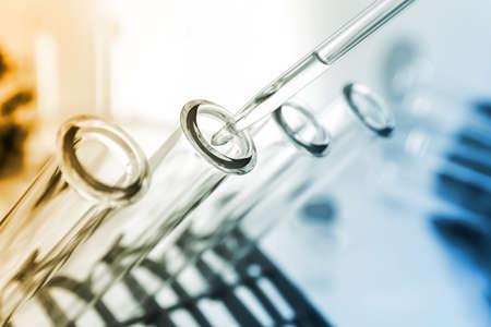 drug discovery: Provette closeup.medical cristalleria
