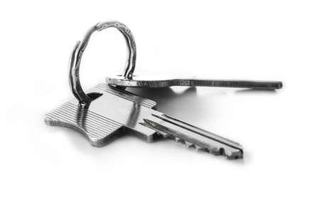 Door keys isolated on white background