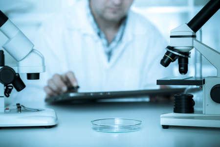scientist working in the lab.