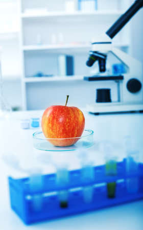 wijzigen: Chemical Laboratory of the Food supply.Food in laboratory, dna modify