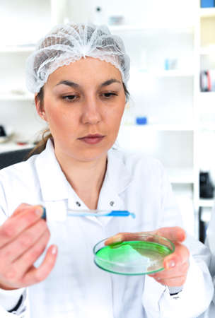 formulae: Team of scientists in a laboratory working on chemical testing.