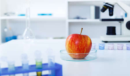 food supply: Red Apple to selection in Microbiological laboratory.Chemical Laboratory of the Food supply.