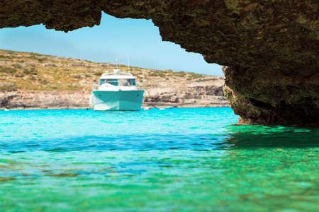 oceanscape: The Blue Lagoon on Comino Island, Malta Gozo.