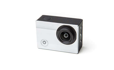 versatile: Action Camera on a white background. Stock Photo