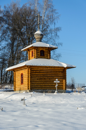 Chapel near the church of the Archangel Michael in the village of Kutepov Stock Photo