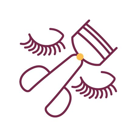 Eyelash curler color line icon. Makeup tool sign. Beauty industry. Pictogram for web page, mobile app, promo.