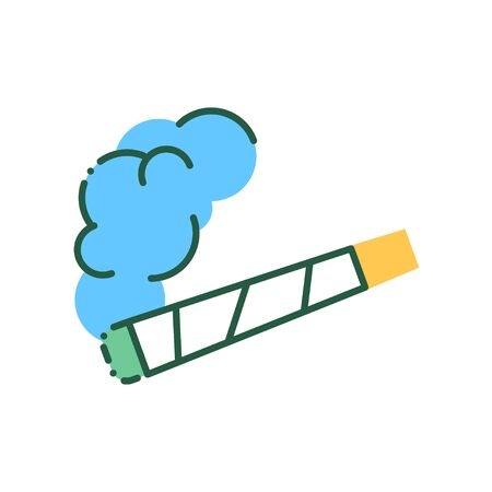 Pre Roll cigarette color line icon. CBD cannabis product sign. Pictogram for web page, mobile app, promo. Illustration