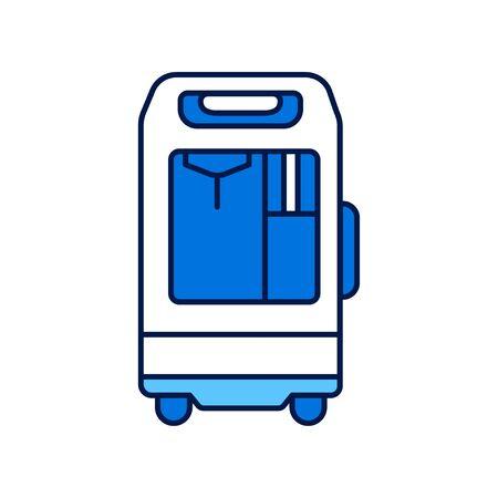 Icône de couleur de ligne de concentrateur d'oxygène. concept. Signez pour la page Web, l'application mobile. Élément isolé de vecteur. Trait modifiable.