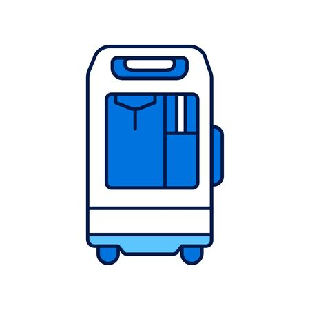 Oxygen concentrator line color icon. concept. Sign for web page, mobile app. Vector isolated element. Editable stroke.