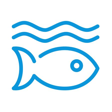 Life below water color icon. Corporate social responsibility. Sustainable Development Goals. SDG sign. Pictogram for ad, web, mobile app. UI UX design element. Editable stroke.