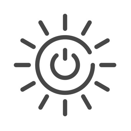 Affordable and clean energy color icon. Corporate social responsibility. Sustainable Development Goals. SDG color sign. Pictogram for ad, web. UI UX design element. Editable stroke.