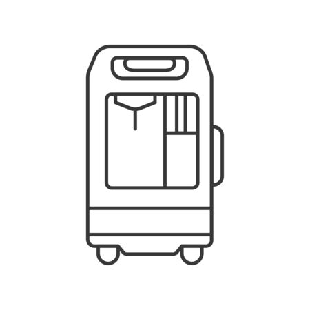 Oxygen concentrator line black icon. concept. Sign for web page, mobile app. Vector isolated element. Editable stroke.