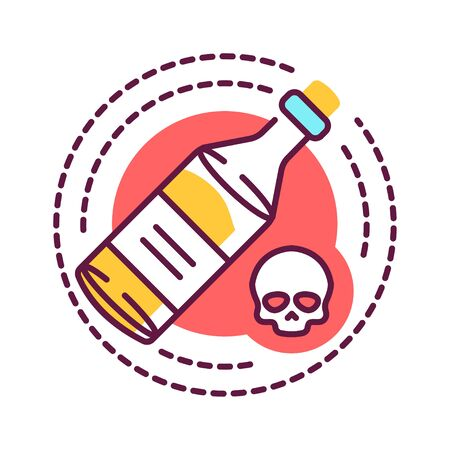 Alcohol addiction color line icon. Alcoholism refers to the physical or emotional dependence on alcohol. Pictogram for web page, mobile app, promo. UI UX GUI design element. Editable stroke.