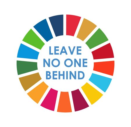 Corporate social responsibility logo. Sustainable Development Goals - United Nations vector illustration. SDG color icon. Pictogram for ad, web, mobile app, promo. UI UX design element. Illustration