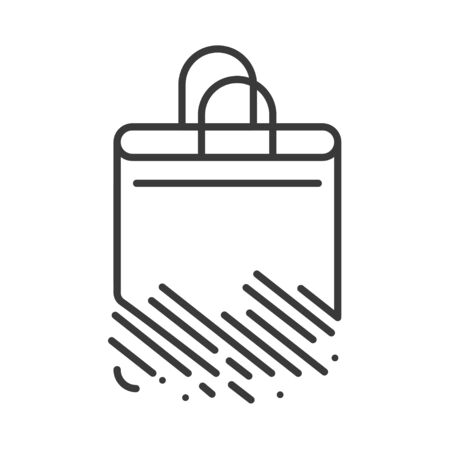 Recyclable package black line icon. Biodegradable polymers. Fast recycle product. Waste recycling. Eco friendly. Sign for web page, app. UI UX GUI design element. Editable stroke Vector Illustration