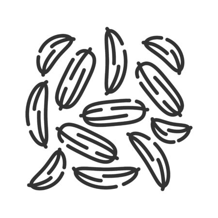Fennel black line icon. Spices, seasoning. Cooking ingredient. Pictogram for web page, mobile app, promo