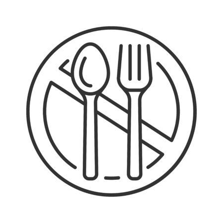 Starvation black line icon. Poverty, risis. Social problem concept. Sign for web page, mobile app, banner, social media Ilustração
