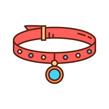 Accessories for pet color line icon. Pet supplies for their safety and happiness. Pictogram for web page, mobile app, promo.