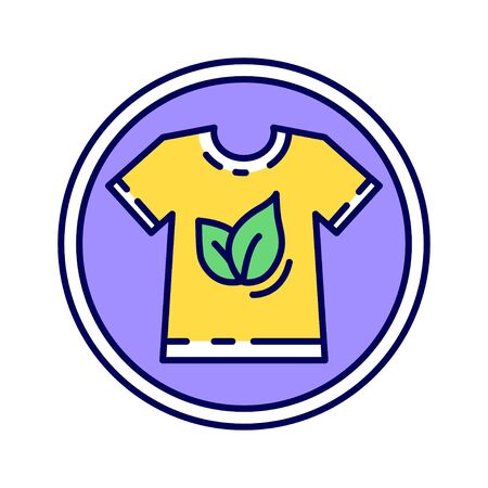 Global Organic Textile color line icon. World-wide recognized requirements that ensure organic status of textiles. Pictogram for web page, mobile app, promo. UI UX GUI design element.