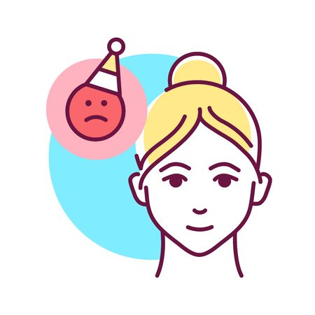 Use humor to remove voltage color line icon. Be positive. Treat everything with humor. Always smile. Pictogram for web page, mobile app, promo. UI UX GUI design element. Editable stroke.