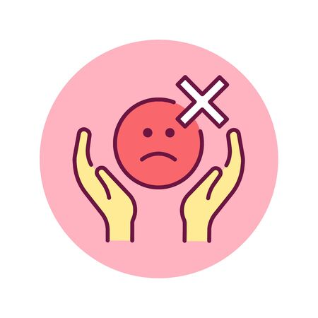 Self control color line icon. Ability to regulate ones emotions, thoughts, and behavior in the face of temptations and impulses. Pictogram for web page, mobile app, promo. Editable stroke.
